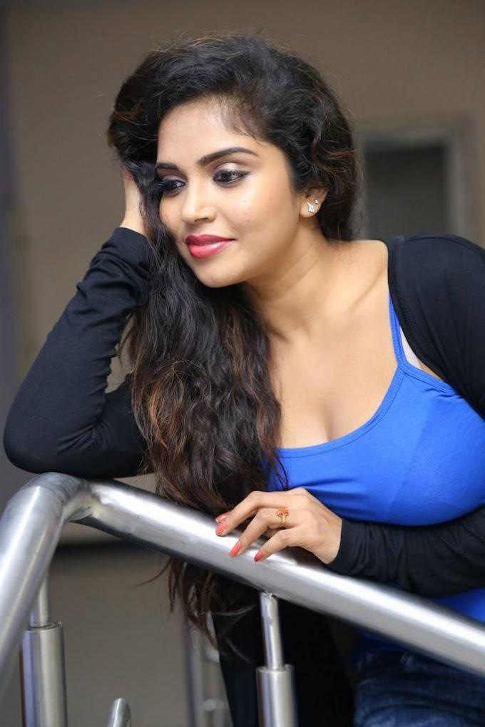 Karunya Chowdary Stills At Telugu Movie First Look Launch