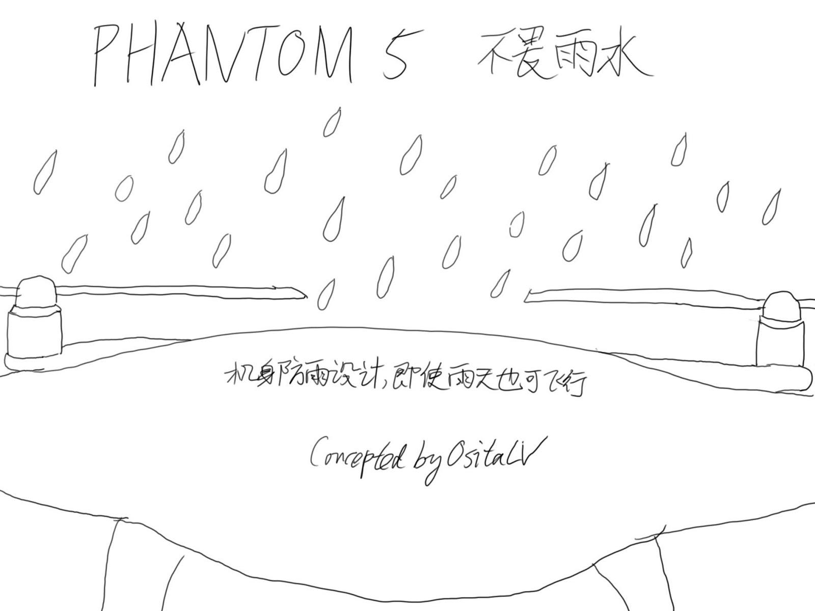 Иллюстрация защиты от дождя для DJI Phantom 5