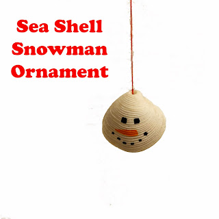 Sea Shell Snowman Ornament