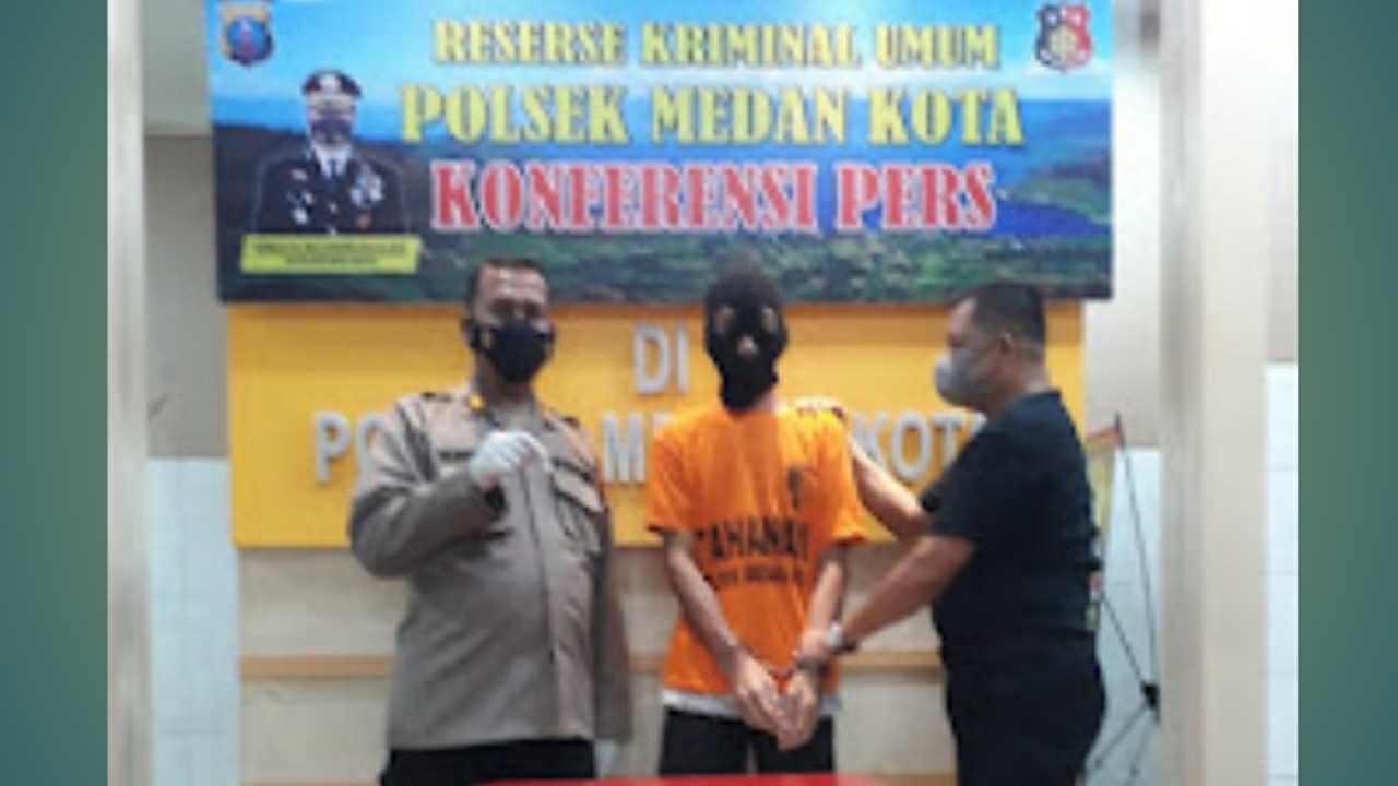 Team Reskrim Polsek Medan Kota Tangkap Pria Tersangka Pecandu Sabu-sabu