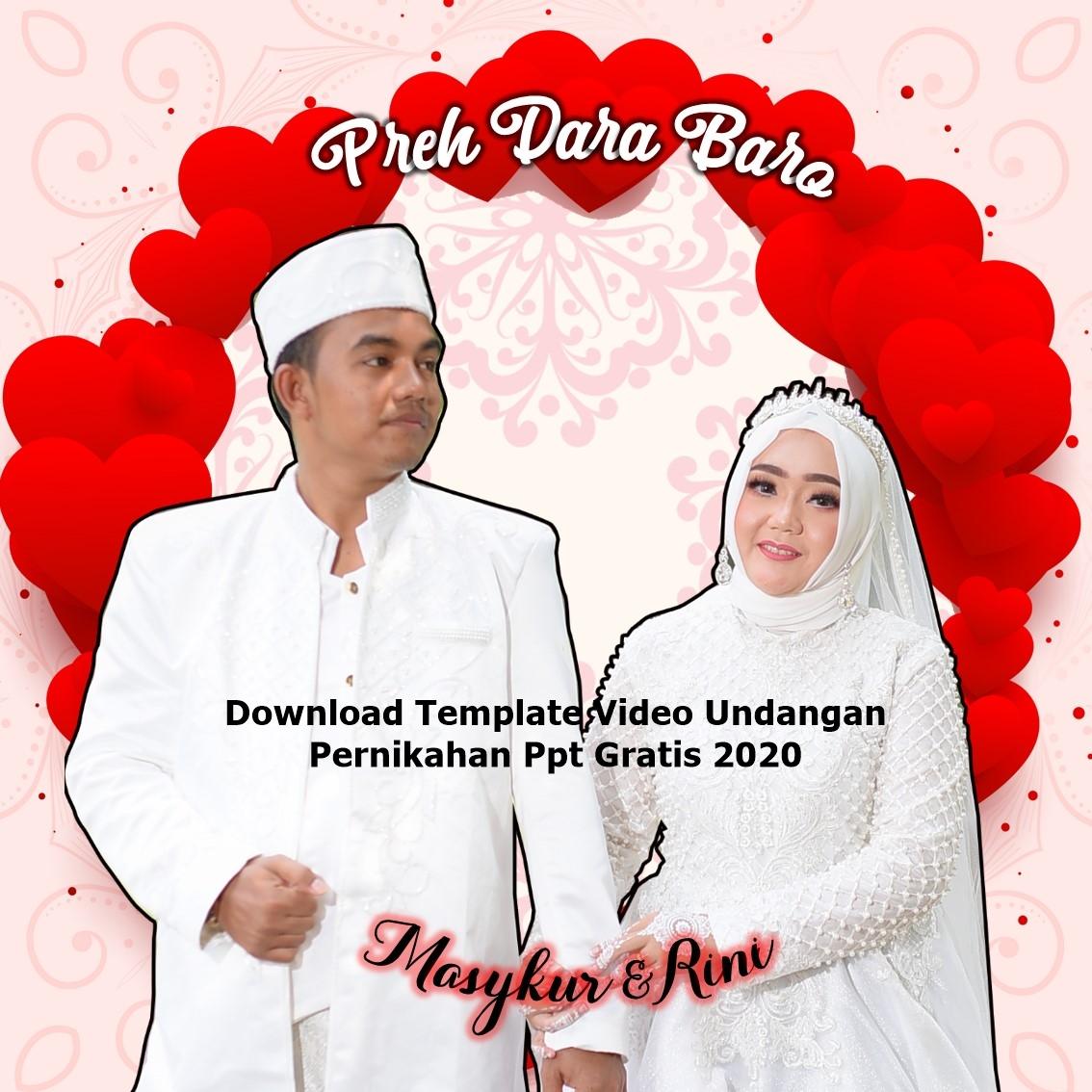 Template Video Undangan Pernikahan Powerpoint Gratis Goresan