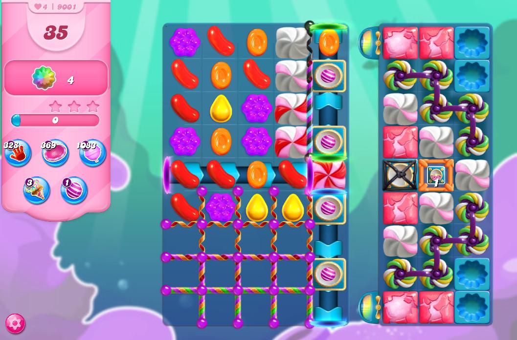 Candy Crush Saga level 9001