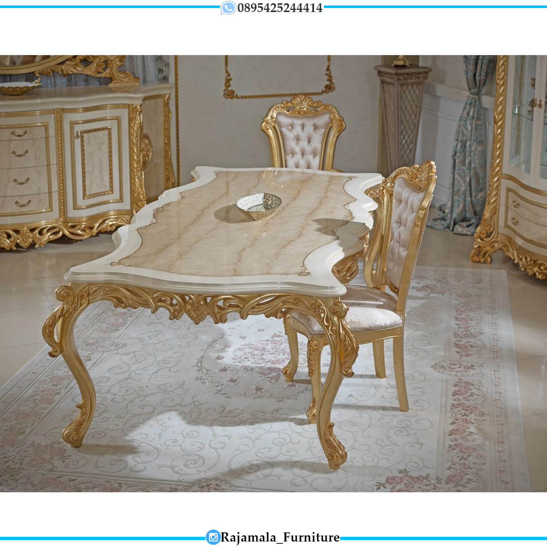 Harga Meja Makan Mewah Ukiran Classic Luxury Golden Shining Glossy RM-0462