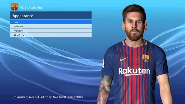 Leo Messi Face PES 2017