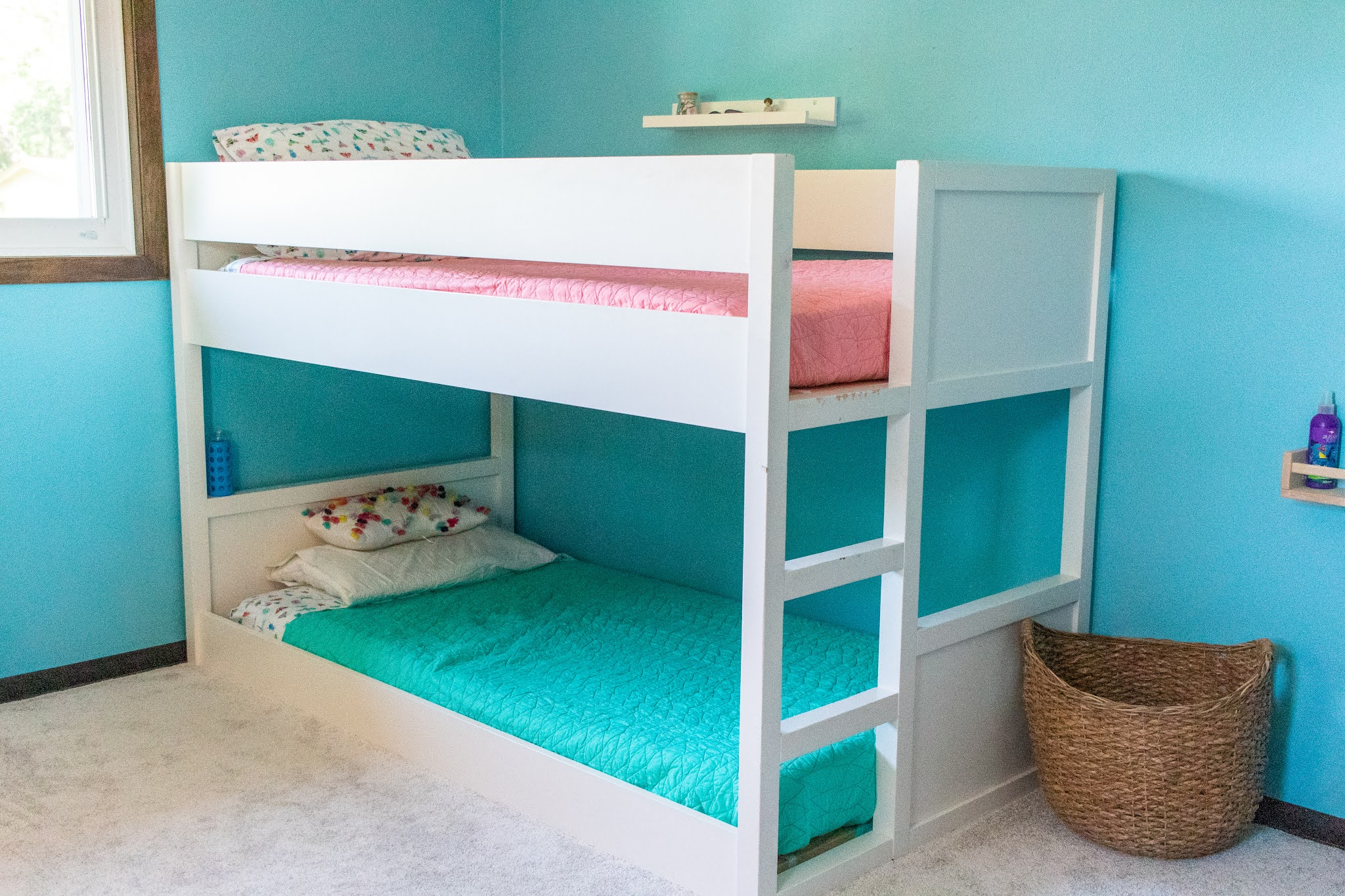 Montessori home inspiration for older kids. Heres a look at how to setup a shared bedroom environment in for toddler and older child.