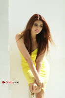 Actress Model Ihana Dhillon Poshoot Gallery in Yellow Lace Short Dress  0028.jpg