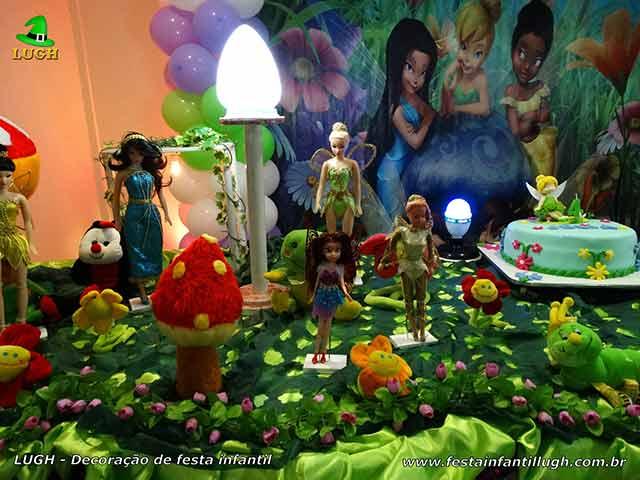 Mesa decorativa infantil Tinker Bell (Sininho)