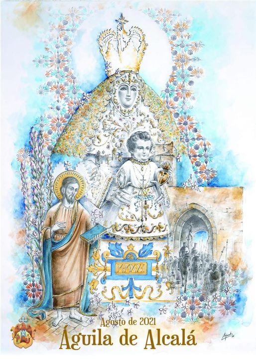 Cartel anunciador de los cultos de la Virgen de Aguila 2021 de Alcalá de Guadaira