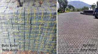 Contoh Gambar Batu Kobel / cobble Rata Alam untuk Templek Dinding Rumah Minimalis