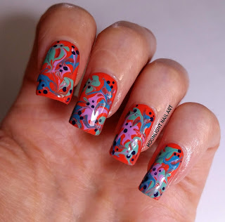 Easy Drag Marble Nail Art