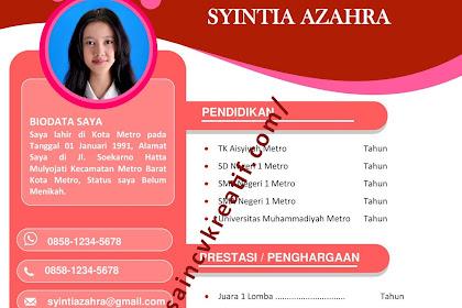 download Desain CV Kreatif 2020 gratis Terbaru dengan Word | desaincvkreatif.com