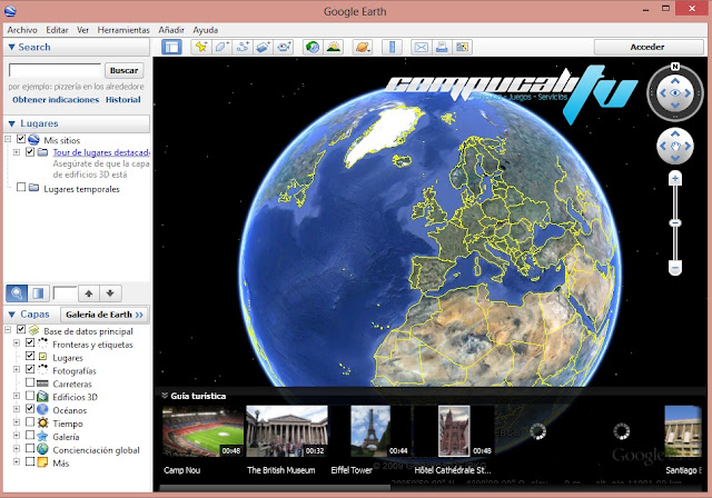 Captura Google Earth Pro 7.0.2.8 Español