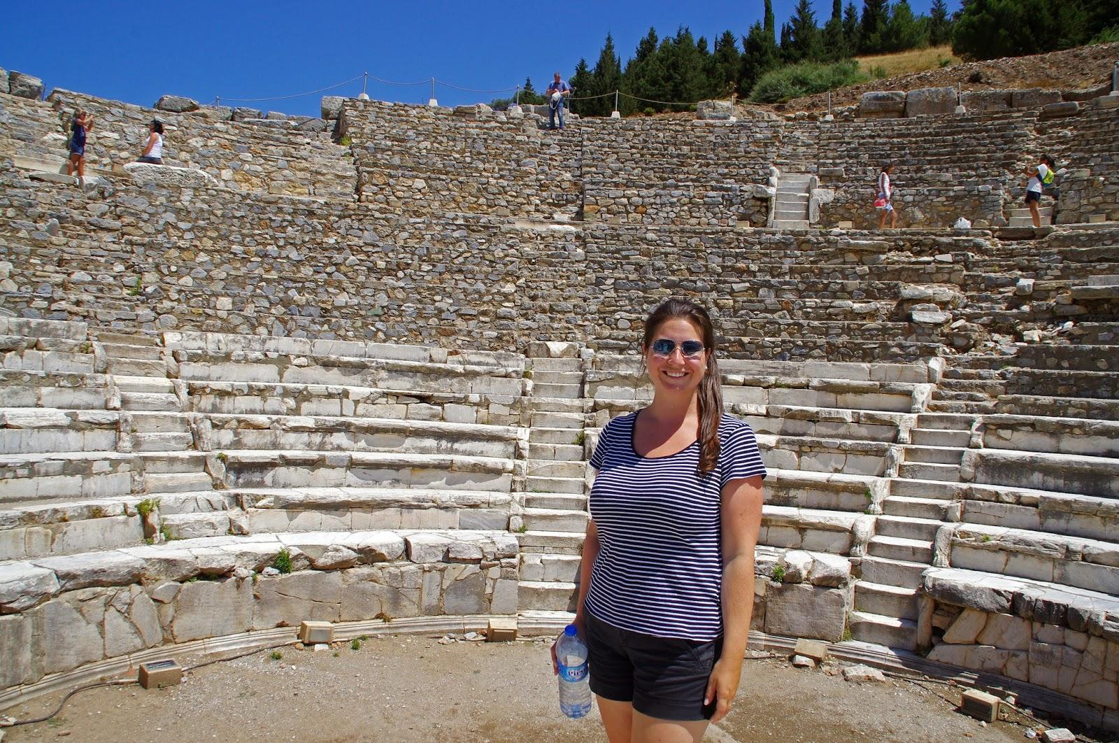 Girl at Ephesus Turkey