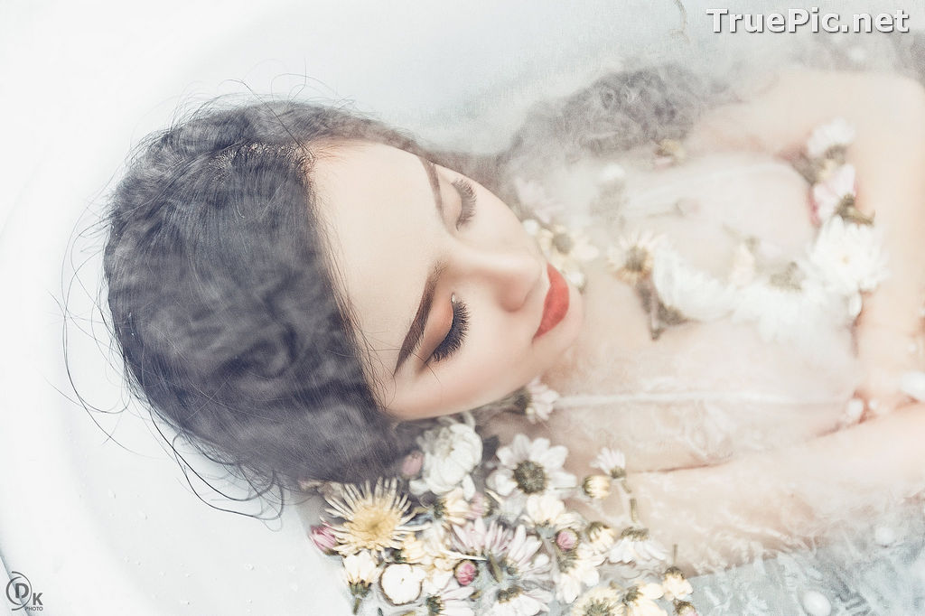 Image Vietnamese Model - Beautiful Fairy Flower In The Bath - TruePic.net - Picture-9