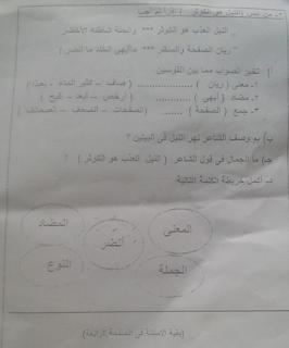 """تجميع امتحانات   للصف الرابع الإبتدائى """"الفعلى """" لغة عربية  إدارات ترم أول لتدريب عليها 81749674_2628727477359250_343548253549101056_n"""