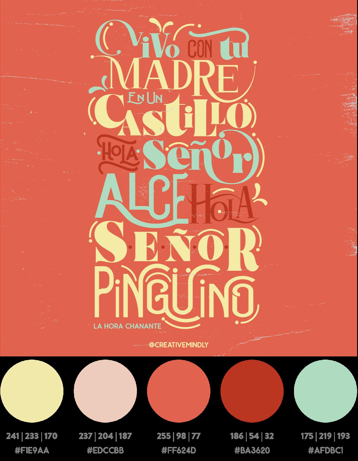 hora chanante tipografias bonitas modernas