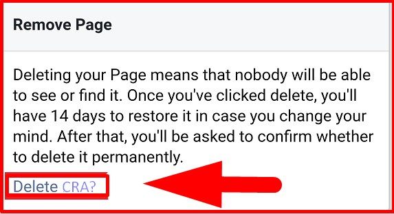 how to delete a fb page permanently