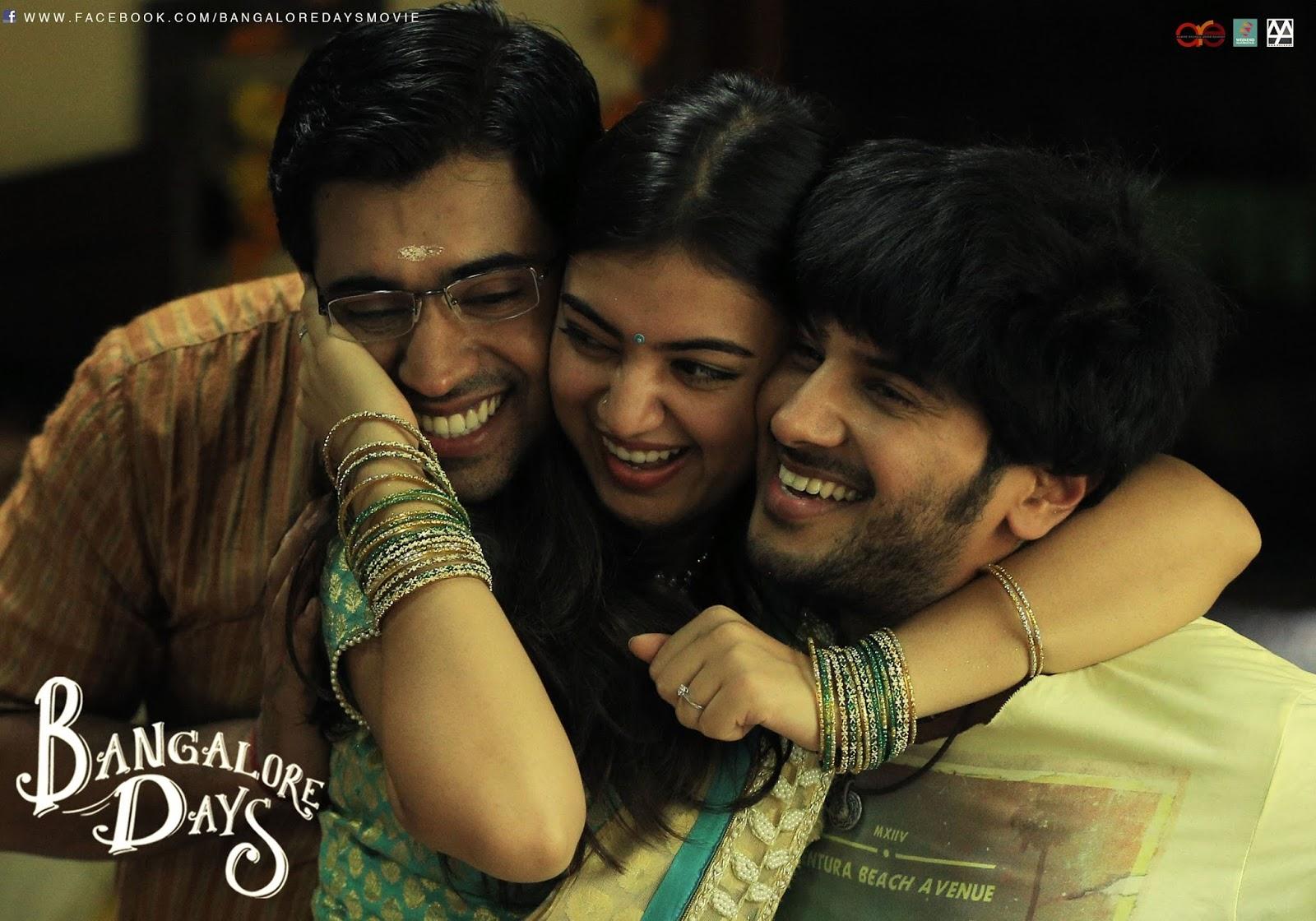 Raja Rani Movie Wallpapers With Quotes Ente Kannil Ninakkai Lyrics Bangalore Days Nazriya