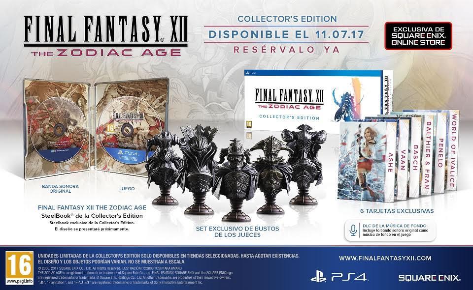 Final Fantasy XII The Zodiac Age presenta las ediciones coleccionista y limitada