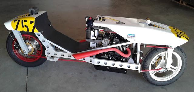 Two Wheel Steering Motorcycle Robert Horn RoHorn Racer