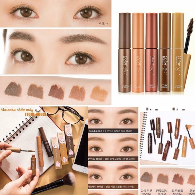 Mascara chan may Etude House Color My Brows