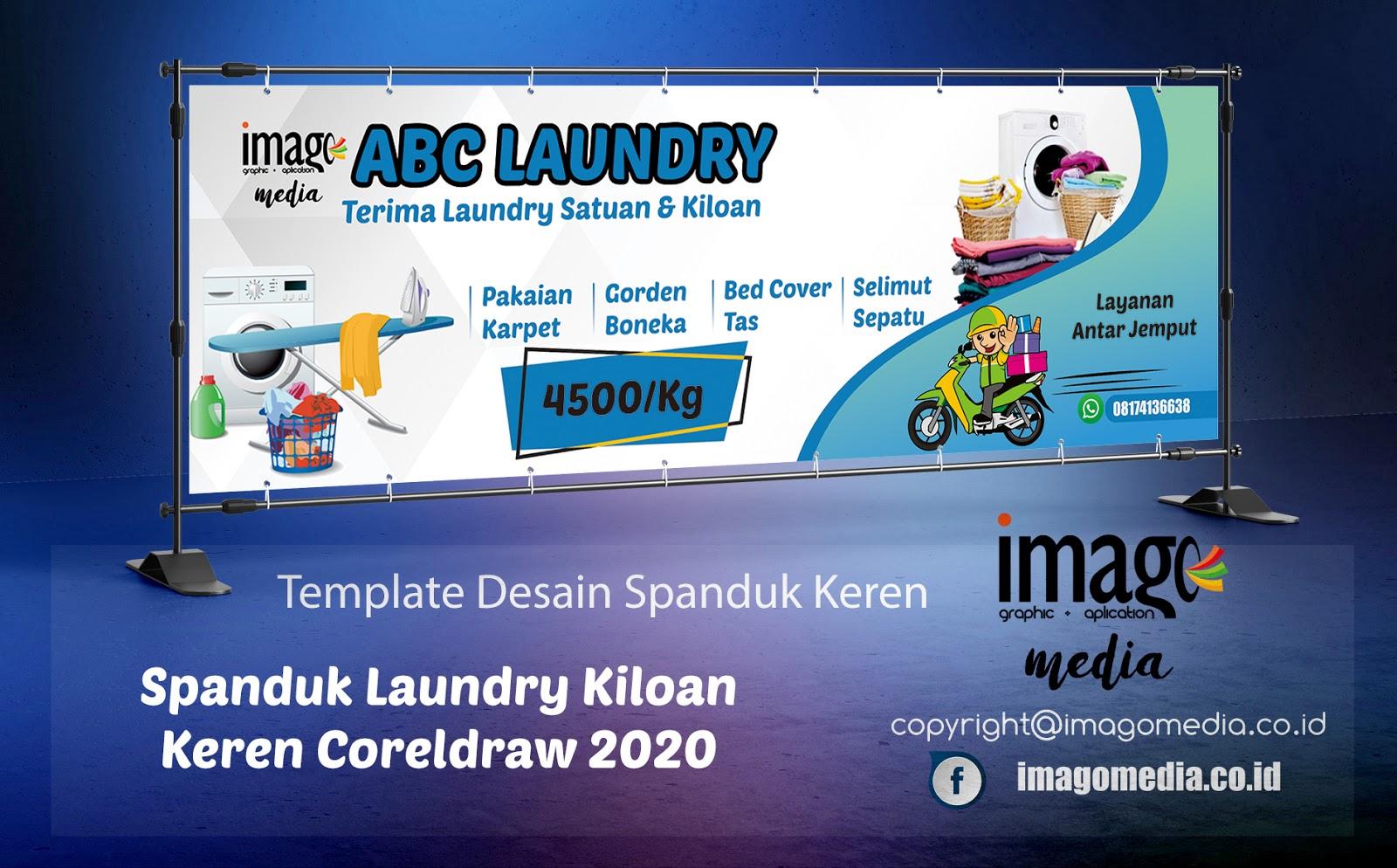 Desain Spanduk Laundry Kiloan Keren Coreldraw 2020