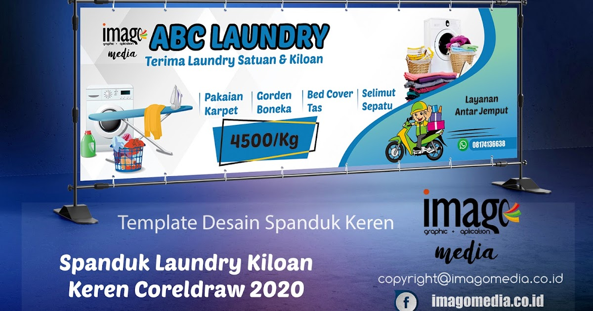 Desain Spanduk Laundry Kiloan Keren Coreldraw 2020 - Imago ...