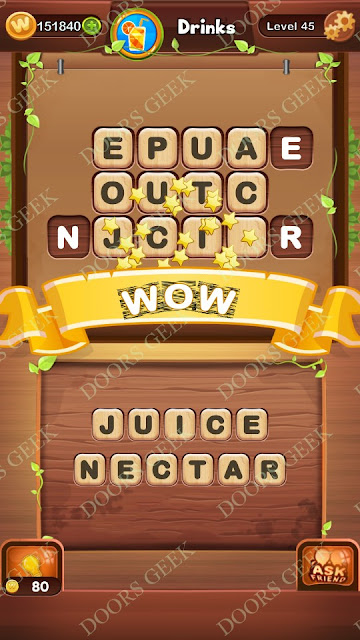 Word Bright Level 45 Answers, Cheats, Solutions, Walkthrough for android, iphone, ipad and ipod