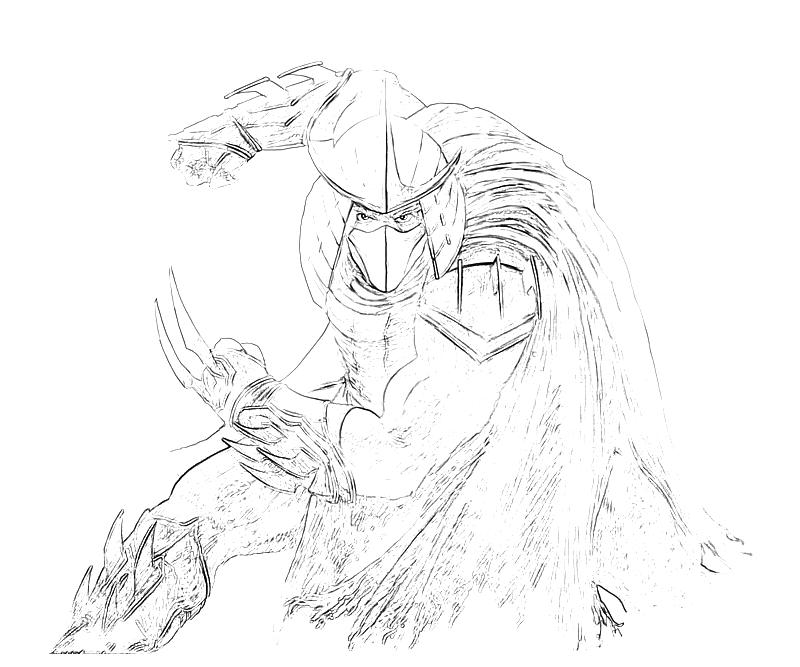 shredder coloring pages - photo#21