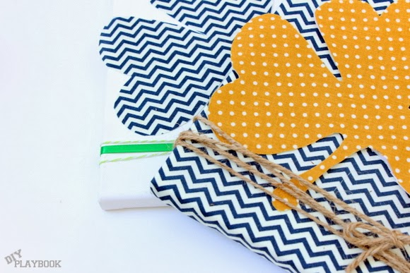 shamrock fabric art