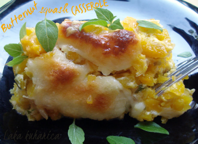 Butternut squash casserole by Laka kuharica: light, delicious casserole rich in vitamins and minerals.