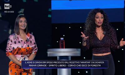 Raffaella Fico e Elettra Lamborghini foto Game of Game 31 marzo