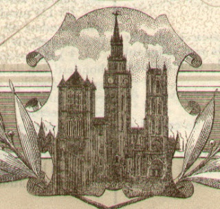 The three towers of Ghent in a vignette