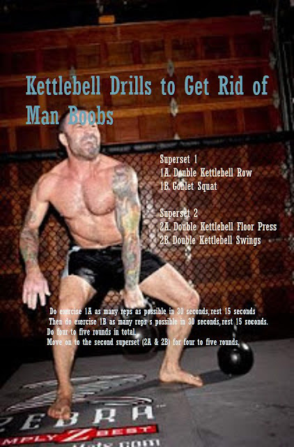 get rid of man boobs with kettlebell workout