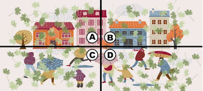 Alt Q 17-4. the wind is starting to get crazy in the city. kiki sees a dollar bill flying with the wind and tries to grab it. which part of the image has the dollar bill?