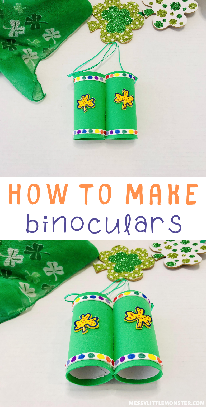 How to make binoculars at home. Toilet paper roll binoculars craft for kids.