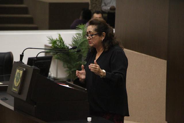 La coordinadora de la fracción de MC, Silvia López Escoffié. Foto Antonio Sánchez