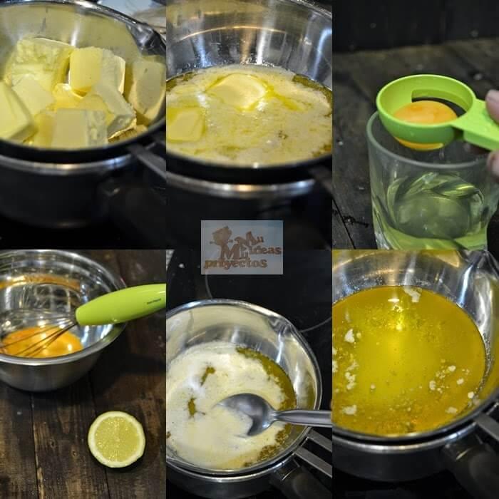 preparación paso a paso de la salsa holandesa