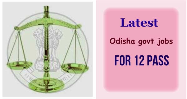 latest Odisha govt jobs