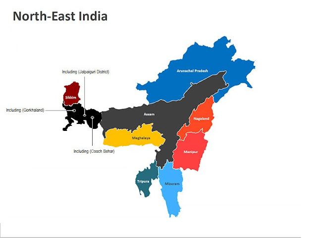 Capitals of Northeast states of India