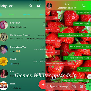 Strawberry Theme for GBWhatsapp