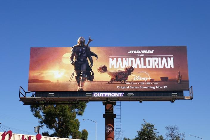 Star Wars Madalorian season 1 billboard
