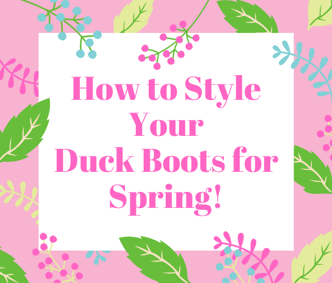 spring styling guide for boots