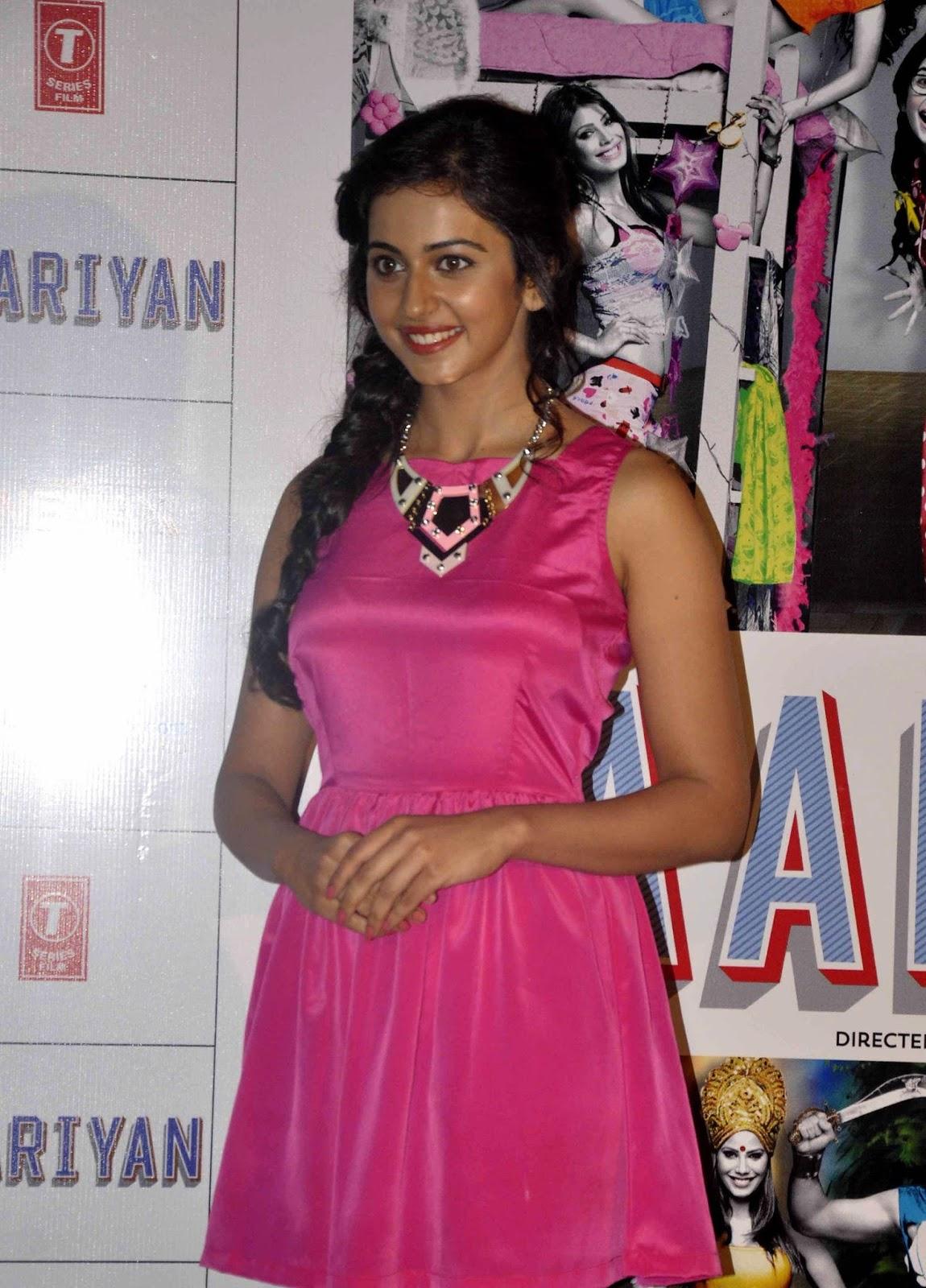 Rakul Preet Photo Shoot In Pink Dress