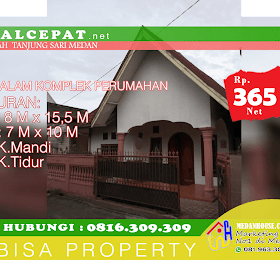 RUMAH DIJUAL: di komplek daerah Tanjung Sari Medan <del>Rp 400.000.000,-</del> <price>Rp 365.000.000,-</price> <code>MH-ONGHOT1</code>
