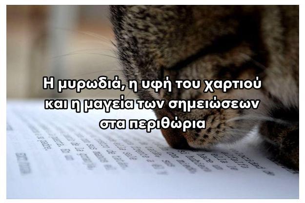 Η μυρωδιά του χαρτιού, η υφή του, το ξεφύλλισμα των σελίδων, η δυνατότητα να κρατήσει κάποιος τις σημειώσεις του στα περιθώρια, είναι αναντικατάστατες».
