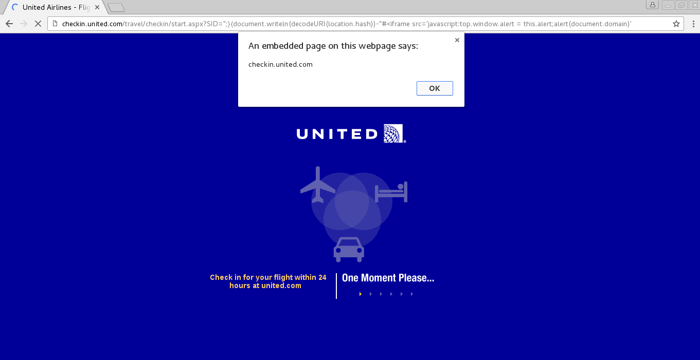 strukt's Security Blog: United to XSS United
