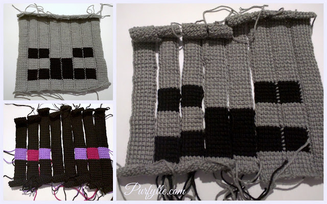 Making Enderman and Skeleton using Tunisian crochet