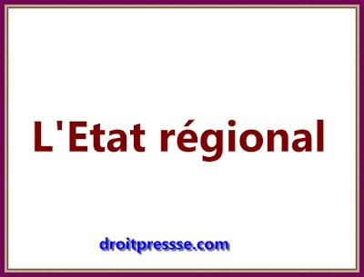 L'Etat régional