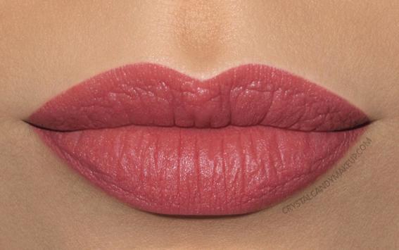 Clarins Joli Rouge Velvet Lipstick Swatch 752v rosewood